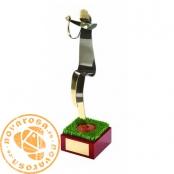 Brass design figure - Baseball