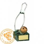 Brass design figure - Bowling