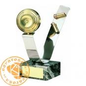 Brass design figure - Clay Pigeon Shooting