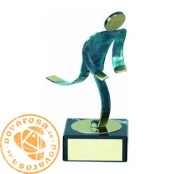 Brass design figure - Athletics