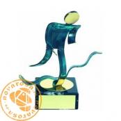 Brass design figure - Duathlon