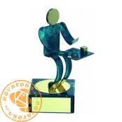 Brass design figure - Parcheesi