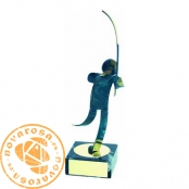 Brass design figure - Fishing