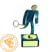 Brass design figure - Squash