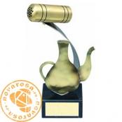 Brass design figure - Cooking