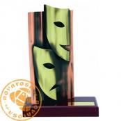 Brass design figure - Theater