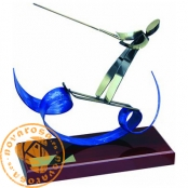 Brass design figure - Water Skiing