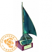 Brass design figure - Sailing