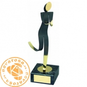 Brass design figure - Athletics