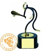Brass design figure - Basque Pelote (Paddle)