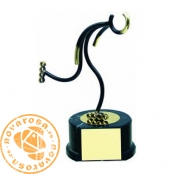Brass design figure - Line Skating
