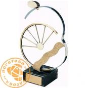 Brass design figure - Mountain Bike