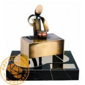 Brass design figure - Butcher