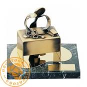 Brass design figure - Doctor