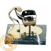 Brass design figure - Mechanic