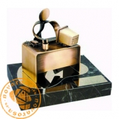 Brass design figure - Clerk