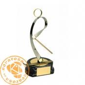 Brass design figure - Ski