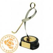Figura de diseño en latón - Hockey Patines