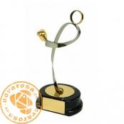 Brass design figure - Table Tennis