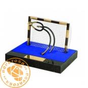 Brass design figure - Futsal Goalkeeper