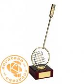 Brass design figure - Badminton