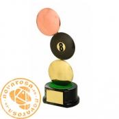 Brass design figure - Billiards