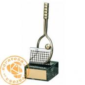 Brass design figure - Tennis