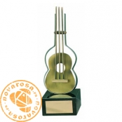 Brass design figure - Music