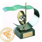 Brass design figure - Scuba Diving