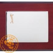 Silver jewelry plate - Golf