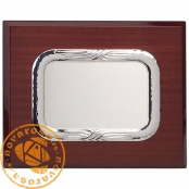 Silver plated jewelry plate