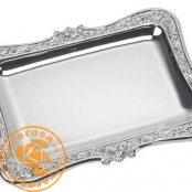 Silver plated jewelry tray