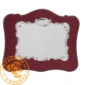 Matt silver plated jewelry plate