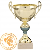 Golden classic cup with handles