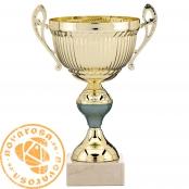 Copa clásica dorada con asas