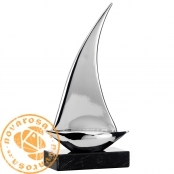 Metalized resin sailboat