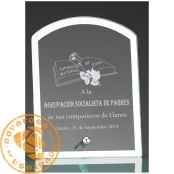 Economic glass design plate
