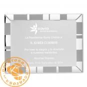 Silver aluminum plate