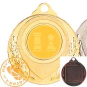Medalla de zamak con disco y cinta