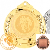 Zamak Medal with disc and ribbon